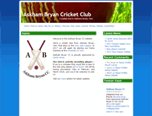 Tablet Preview of abcricket.co.uk